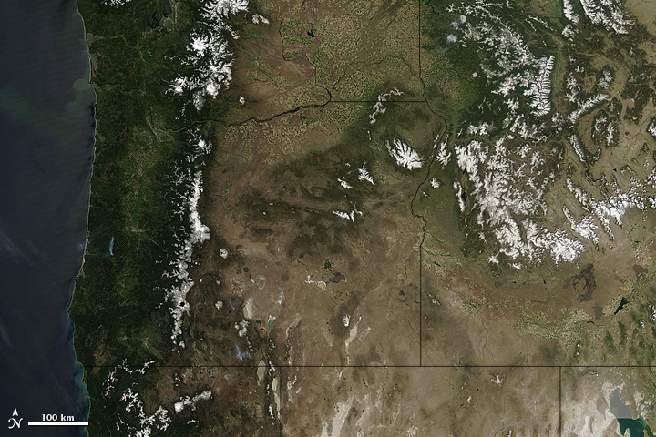Sunny Skies over the Pacific Northwest