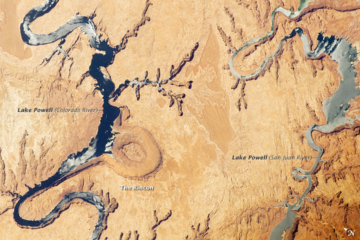 Lake Powell and The Rincon, Utah
