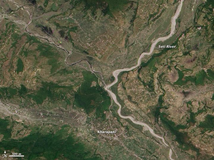 Aftermath of the Seti River Landslide