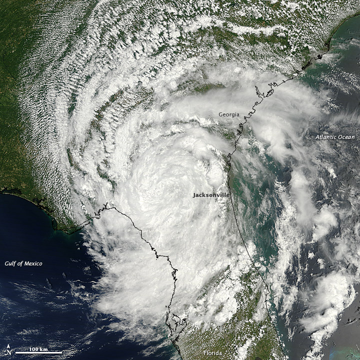Tropical Depression Beryl over Florida and Georgia