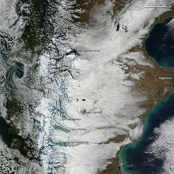 Snow Blankets Southern Patagonia