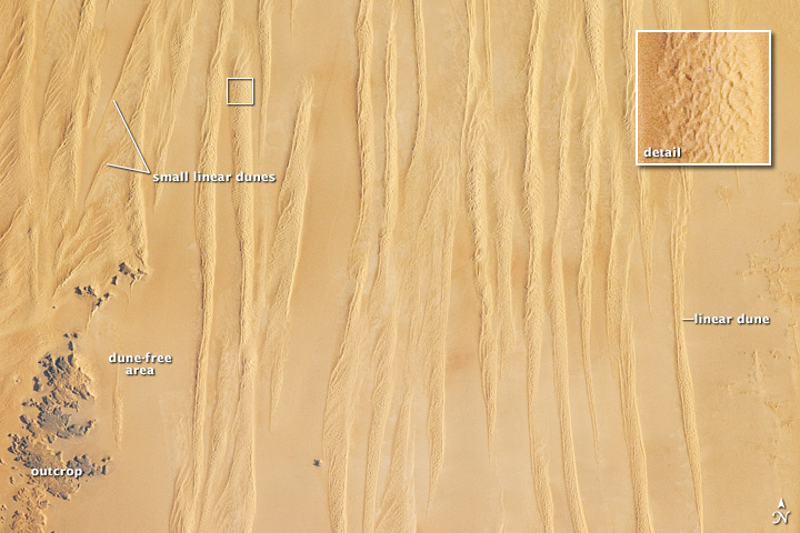 Linear Dunes, Great Sand Sea, Egypt