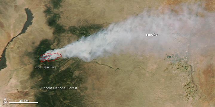 Little Bear Fire, New Mexico