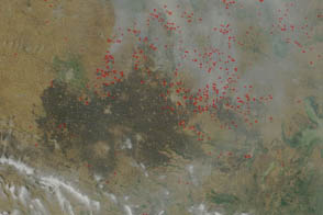 Wheat Fires in China