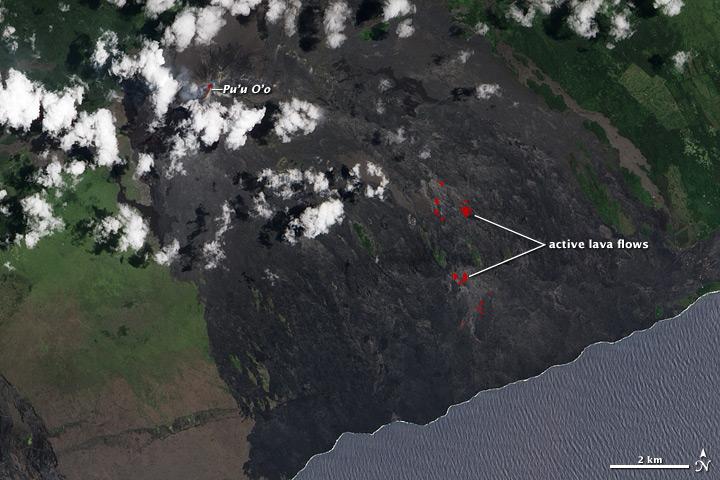 Lava Flows on the Kilauea's Pali