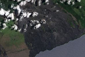 Lava Flows on the Kilauea's Pali