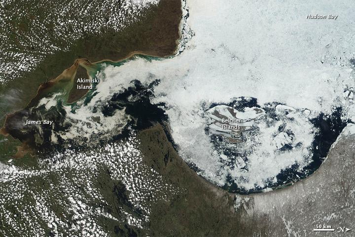 Melting Ice in Hudson Bay