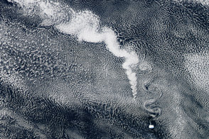 Volcanoes, Clouds, and Swirling Winds