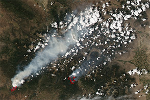 Wildfires across Colorado