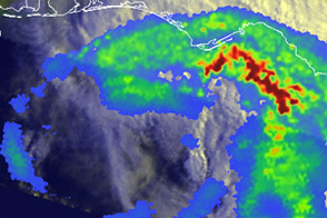 Rainfall from Debby