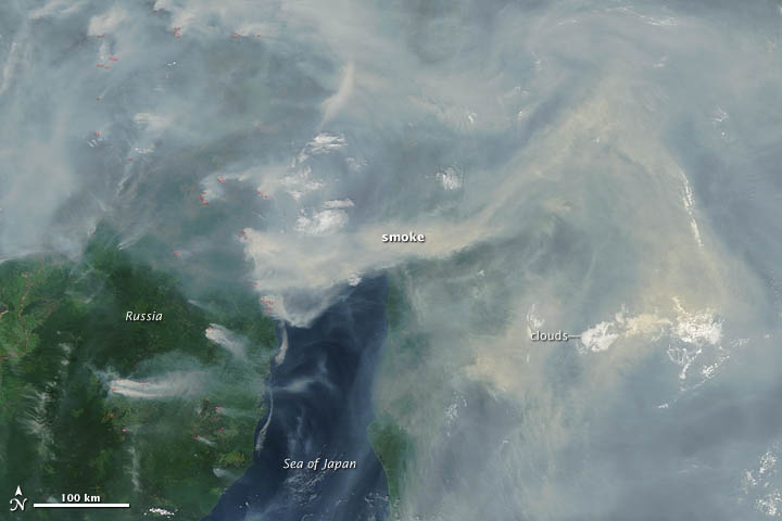 Smoke and Fires in Siberia