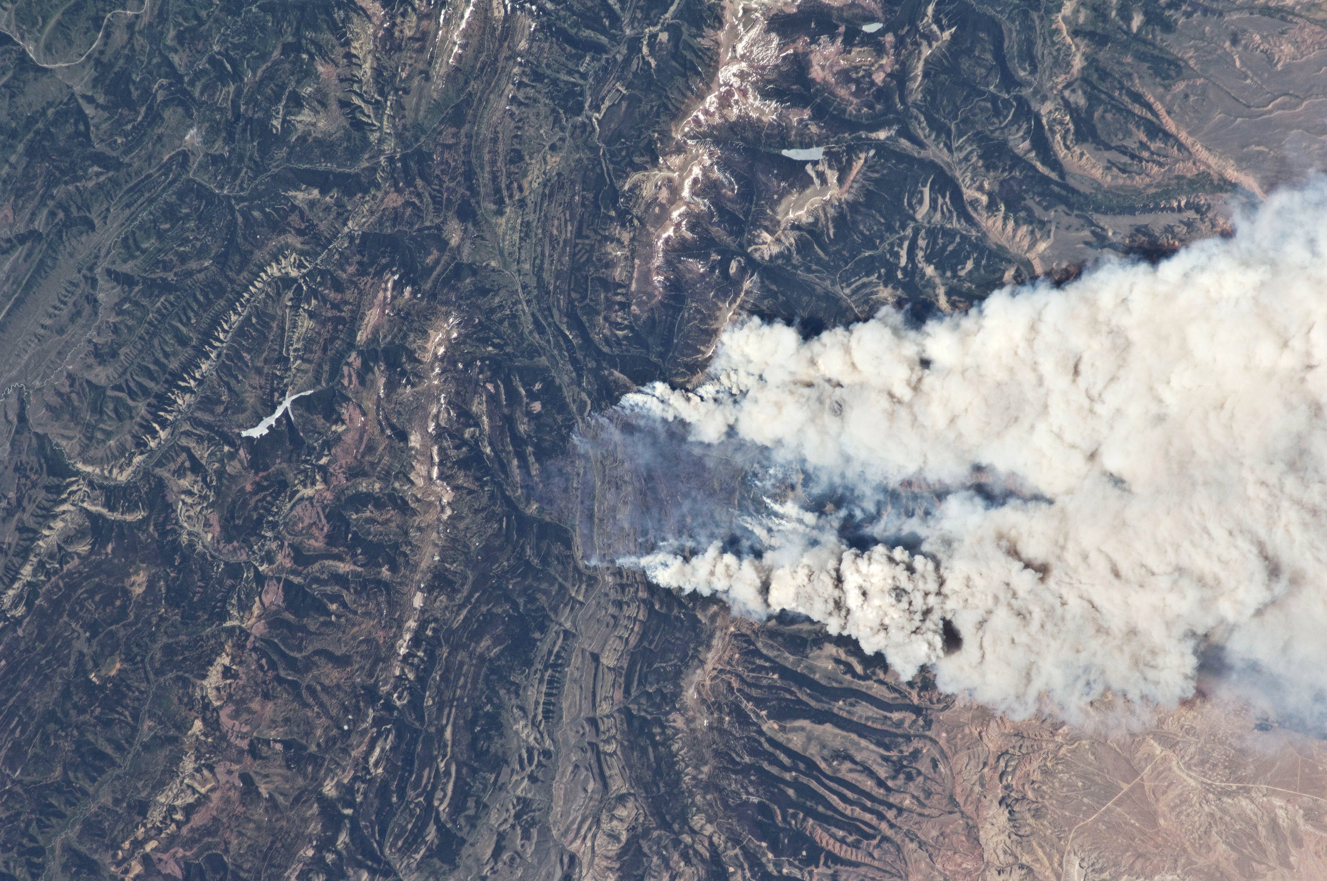 Fontenelle Fire from the International Space Station ...