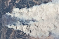 Fontenelle Fire from the International Space Station