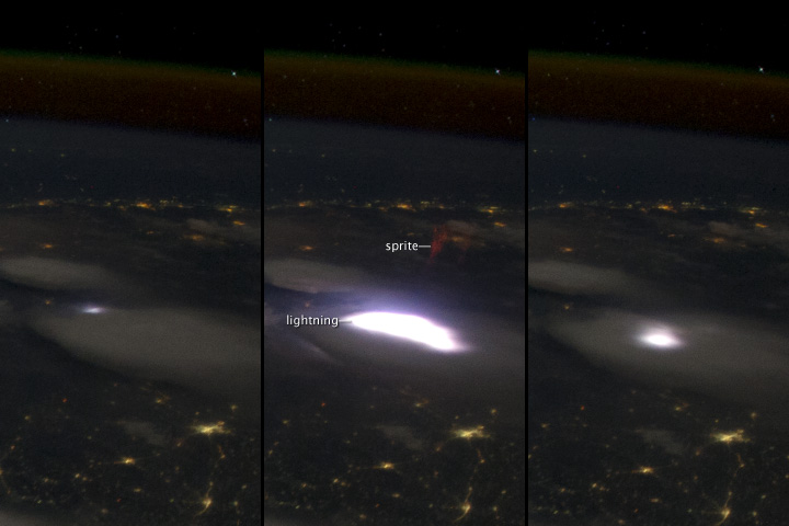 Elusive Sprite Captured from the International Space Station
