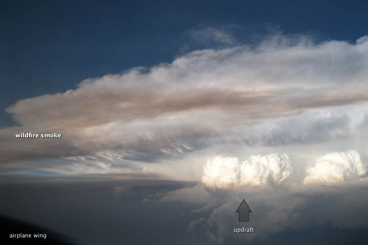 When Wildfire Smoke and Thunderstorms Collide