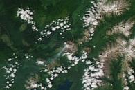 Erupting Kamchatka Volcanoes