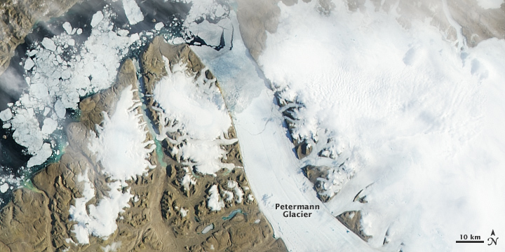 More Ice Breaks off of Petermann Glacier