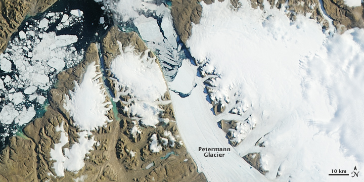 More Ice Breaks off of Petermann Glacier