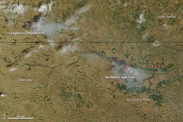 Wildfires in South Dakota and Nebraska