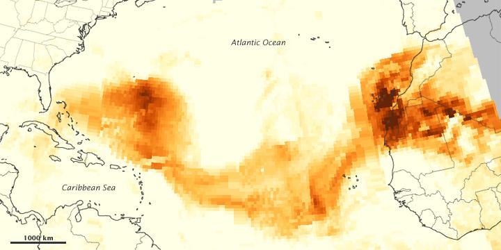 Dust Plume over the Atlantic