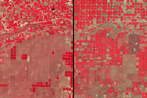 Growth of Central Pivot Irrigation, Kansas - selected image