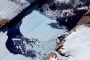 Closeup of the Ice Island from Petermann Glacier