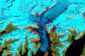Retreat of Alaska's Columbia Glacier - selected image