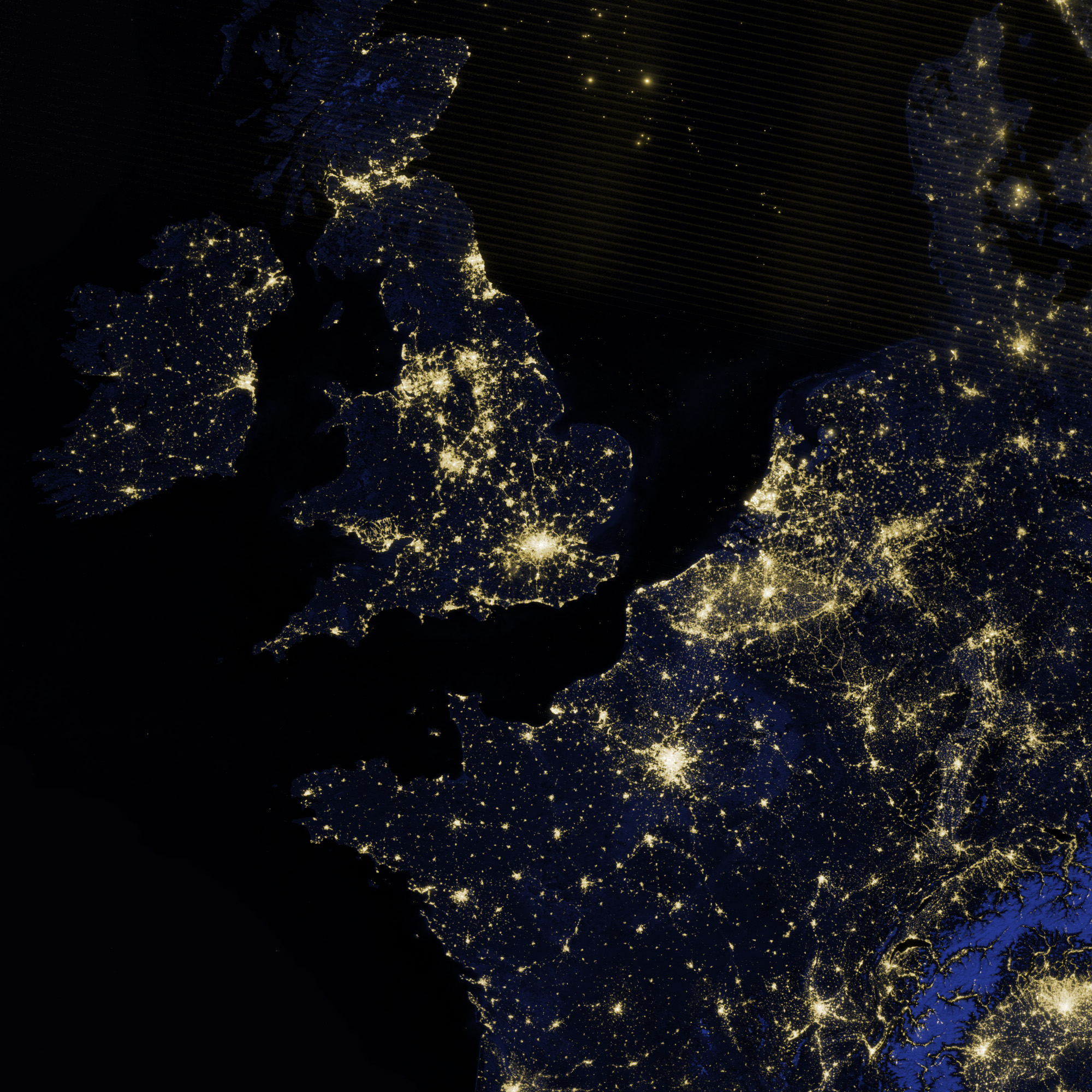 The Lights Of London Image Of The Day - World satellite map lights
