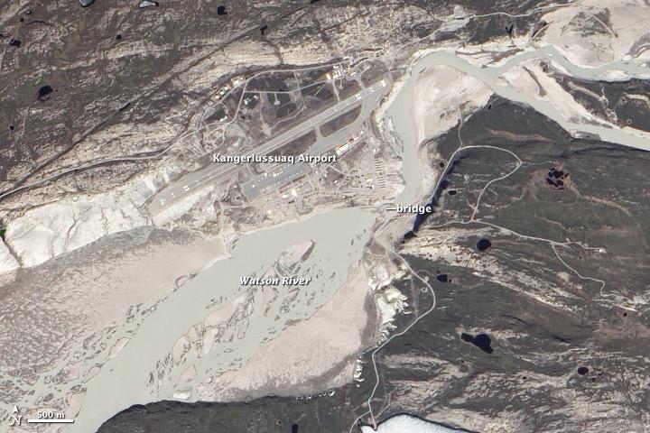 Flooding in Kangerlussuaq, Greenland