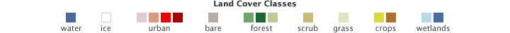 Color bar for Landsat Shows Land Use Around Portland