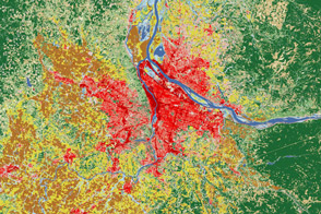 Landsat Shows Land Use Around Portland