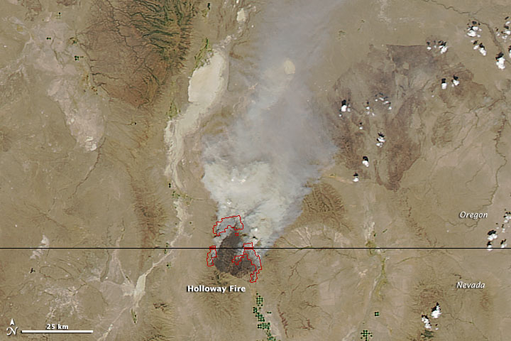 Holloway Fire in Oregon and Nevada