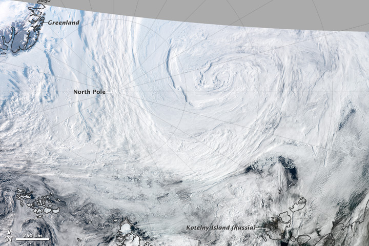 Strong Summer Cyclone Churns Over the Arctic  - related image preview