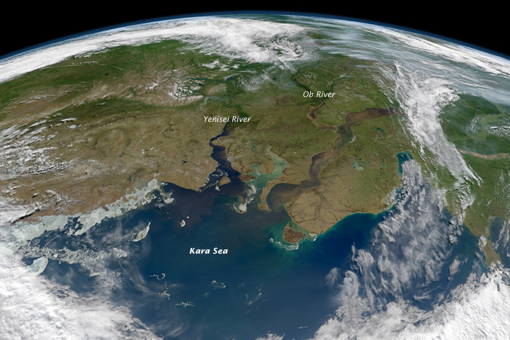 River Outflow to the Kara Sea