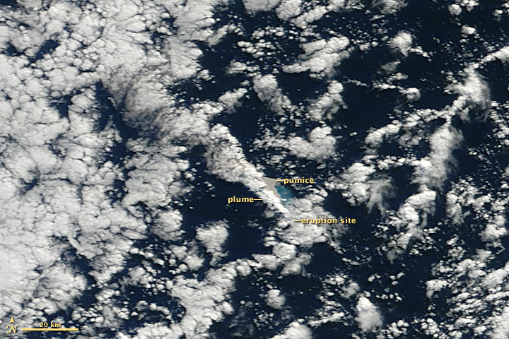 NASA Satellites Pinpoint Volcanic Eruption