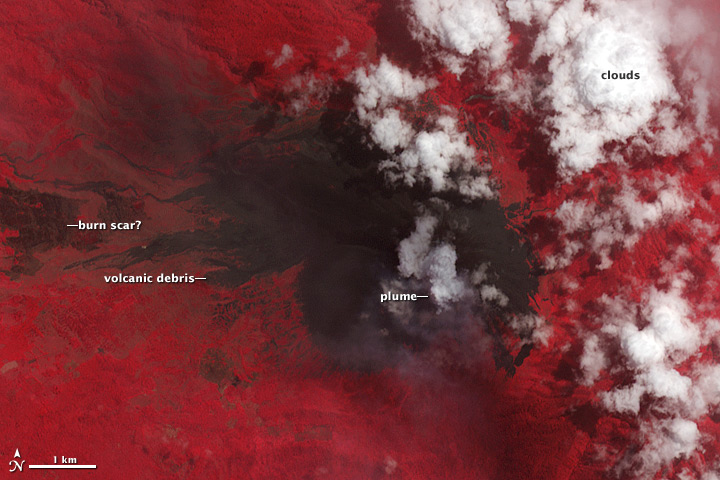 Activity at Soputan Volcano