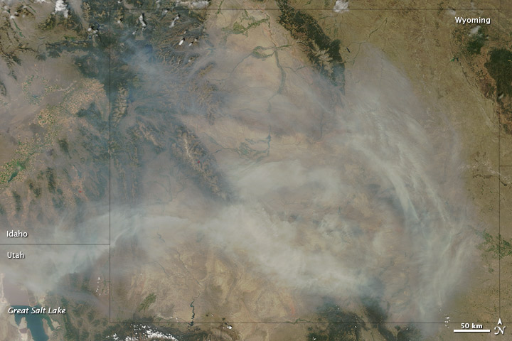 Thick Smoke over Wyoming