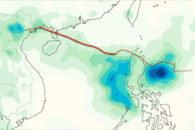 Rainfall from Typhoon Kai-tak