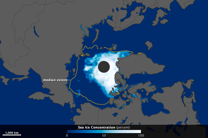 Arctic Sea Ice Drops below 2007 Record - related image preview