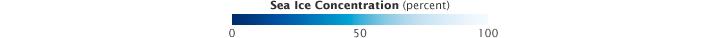 Color bar for Arctic Sea Ice Drops below 2007 Record