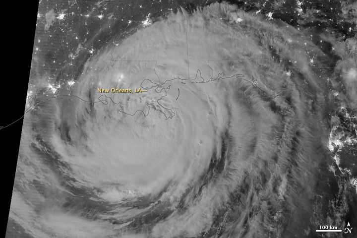 Night View of Hurricane Isaac - related image preview