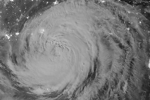 Night View of Hurricane Isaac - selected image