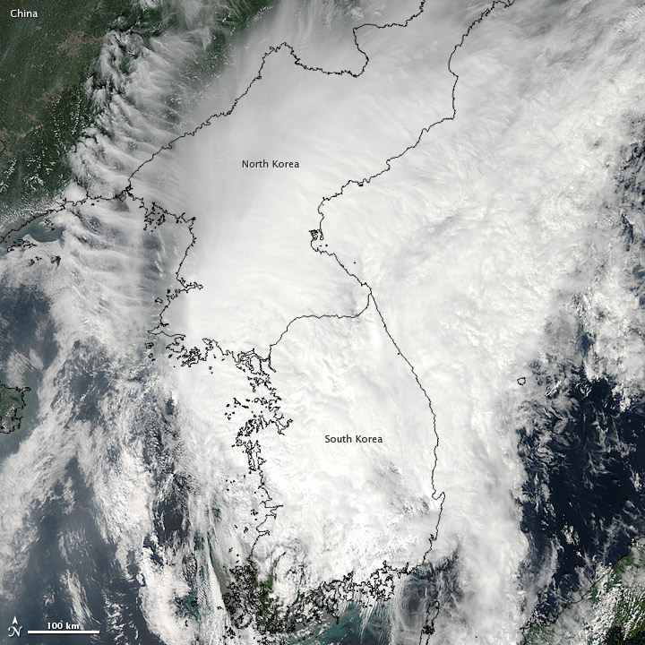 Tropical Storm Tembin over the Korean Peninsula