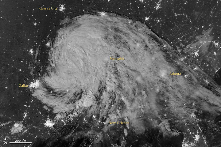 Moonlit Tropical Depression Isaac - related image preview
