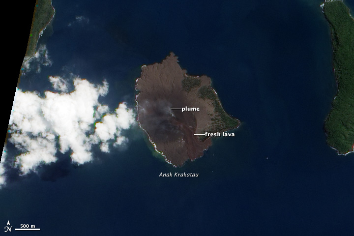 Fresh Lava Flows on Anak Krakatau