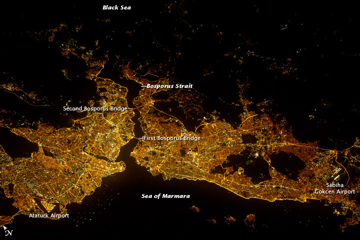 'Istanbul by Night' Jpg view from Space Station