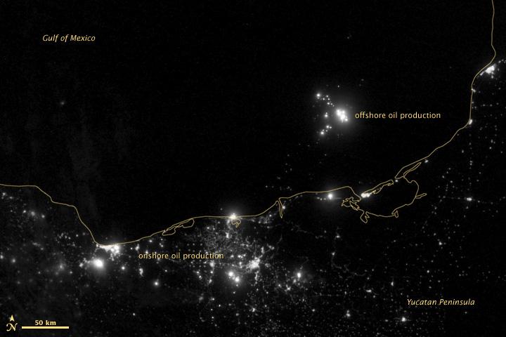 Gas Flares in Bahía de Campeche