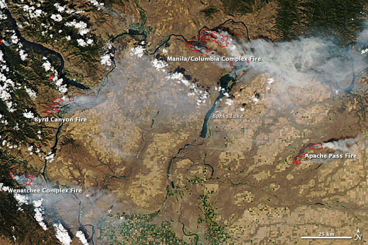 Wildfires in central Washington - related image preview