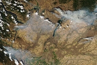Wildfires in central Washington