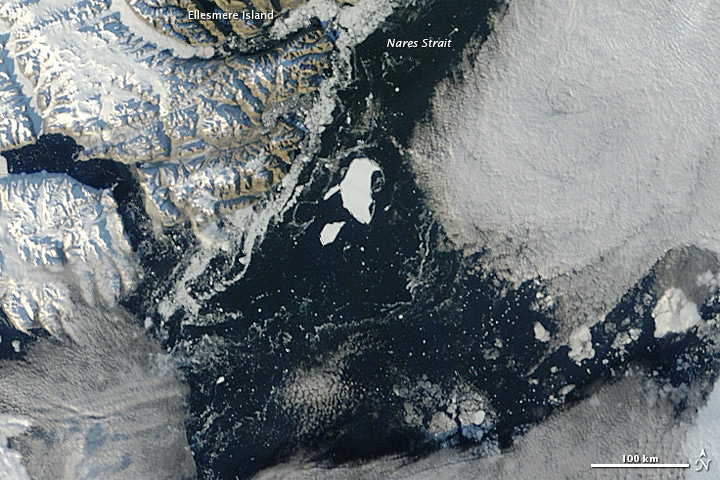 Petermann Ice Island in Nares Strait